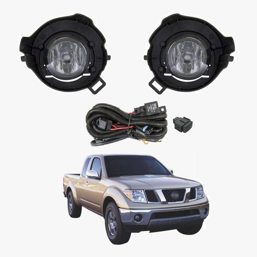 Fog Light Kit for Nissan Navara D40 2005-2015 with Wiring & Switch on