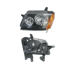 Headlight for Holden Colorado RC 2008-2012 Black Insert-LEFT