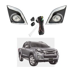 Fog Light Kit for Isuzu D-Max 2016-2018 with Wiring & Switch