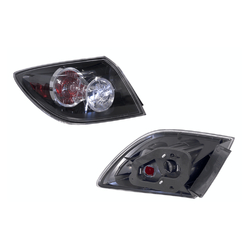 Mazda 3 HATCHBACK BK 01/2004-12/2008 BLACK/CLEAR/RED Tail Light-LEFT