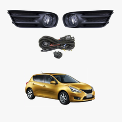 Fog Light Kit for Nissan Pulsar C12 Hatch 2013-2016 W/Wiring&Switch