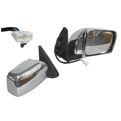 For Nissan Patrol GU 12/1997-05/2015 Electric Door Mirror Chrome-RIGHT