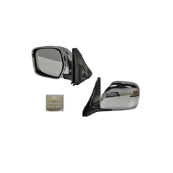Toyota Land Cruiser 100 Series 1998-2007 Door Mirror Electric Chrome-LEFT