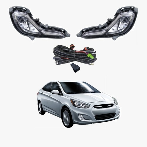 Fog Light Kit for Hyundai Accent RB 2011-2017 W/Wiring&Switch