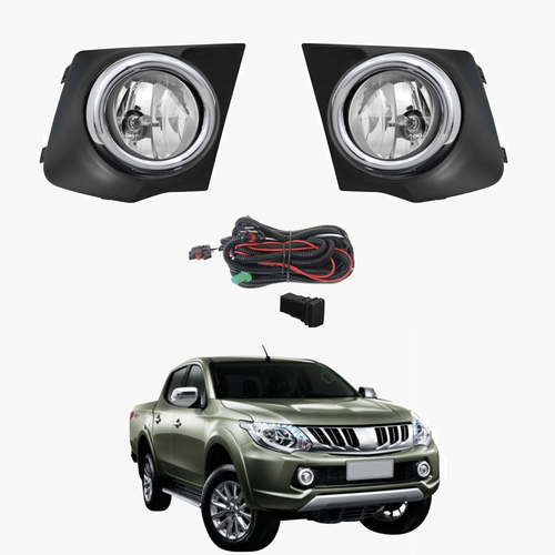 Fog Light Kit for Mitsubishi Triton MQ 2015-2017 with Wiring & Switch